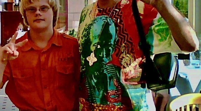 2008 Victor Gdowczok met Carlos Santana in Cologne
